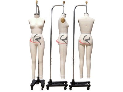 (ST-FULLSIZE6+One Free Arm) Model #601 Professional Female Dress Form Full Body Size 6 Collapsible Shoulder.