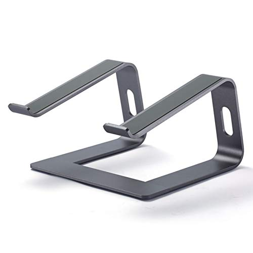 Bestomrogh Soporte para ordenador portátil, portátil, de aluminio, desmontable, para refrigeración, compatible con Mac MacBook Pro Air Apple Notebook para el hogar u oficina (gris)