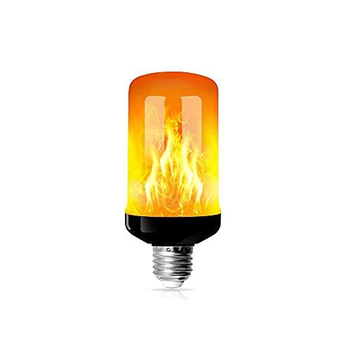 Bombilla de Llama, Bombilla de Fuego, Lámpara de Llama, Efecto de Llama, 4 Modos de Iluminación, con Sensor de Gravedad, para Halloween, Navidad, Jardín, Fiesta, Bodas (5W E27 Base)