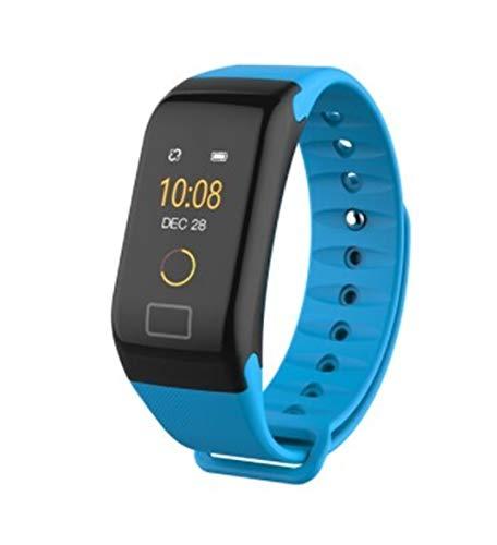 LYB para Samsung Galaxy J4 J6 J8 J3 J5 J7 2017 A3 A5 A7 A6 A8 + A9 2018 Smart Watch Pulsera Impermeable Tarifa Cardíaca Fitness Pulseras (Color : Blue)