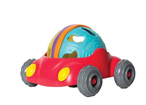 Playgro Jeu de Balle et Voiture, Sans BPA, À partir de 12 Mois, Junyju Rattle & Roll Car, Rouge/Multicolore, 40169