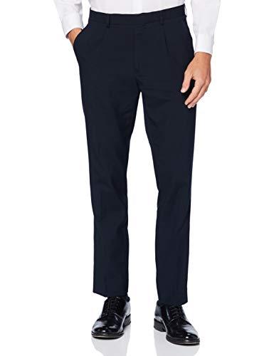 Marca Amazon - find. Pantalón Ajustado de Traje Hombre, azul (marino), 30W / 29L, Label: 30W / 29L