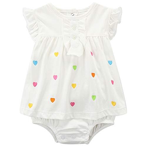 Bebé Niña Mono Sin Mangas Mameluco Body de Algodón Verano Vestido Peleles, 3-6 Meses