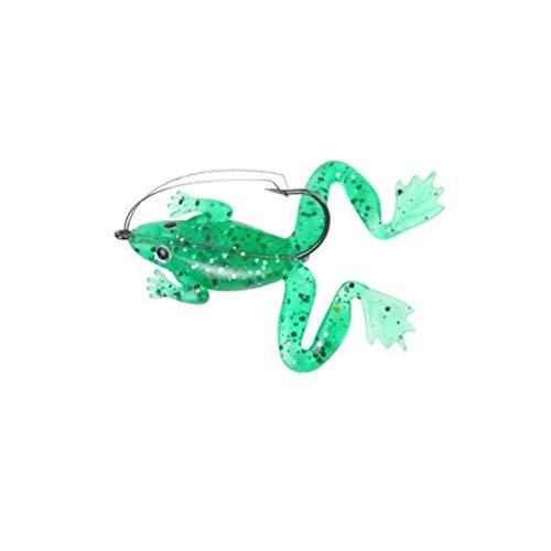 1 unid / lote 6cm / 5.2g Pesca pesca pesca artificial Pesca Silicona Cait Frog señuelo con gancho suave pesca rana señuelos de pesca Aparejos de pesca Forniture da pesca ( Color : 3 , Size : 6
