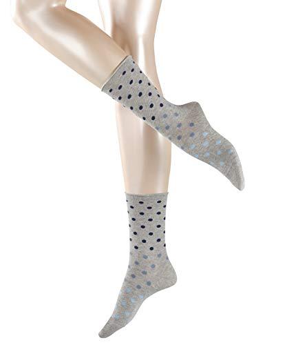 ESPRIT Damen Multicolour Dot W SO Hausschuh-Socken, Grau (Light Grey 3400), 39-42 (UK 5.5-8 Ι US 8-10.5)