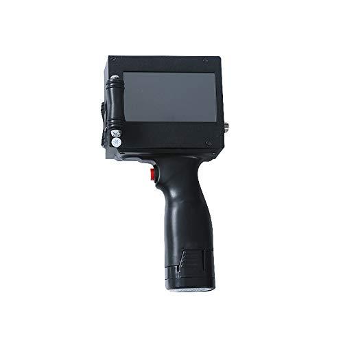 MHUI Impresora de inyección de Tinta portátil Impresora de inyección de Mano Inteligente 600DPI Máquina de codificación de inyección de Tinta Codificador de Fecha con Pantalla táctil de 3,5 Pulgadas