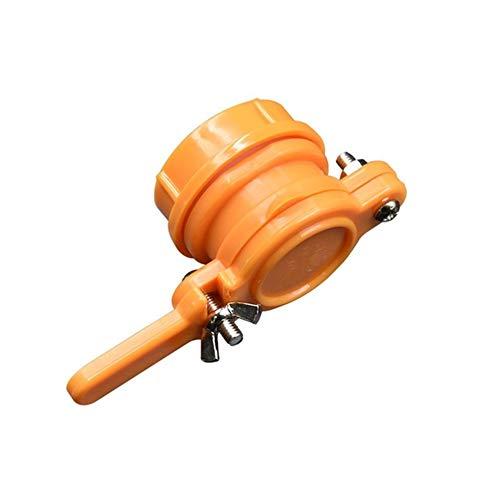 Fácil de usar Herramienta de la colmena de abejas de miel Tap Válvula de compuerta de la bomba extractora de apicultura Embotellado duradero puerto de flujo de nylon apicultura Equipo Eficiente y prac
