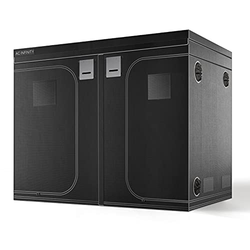AC Infinity CLOUDLAB 899 Advance Grow Tent, 8x8 with Thicker 1 in. Poles with Higher Density 2000D Diamond Mylar Canvas, Controller Mount for Hydroponics Indoor Growing, 96' x 96' x 80'