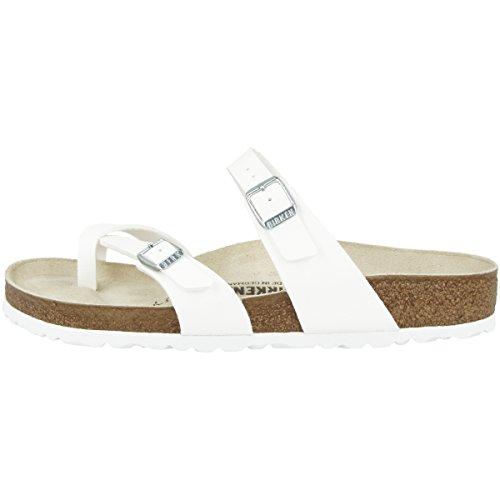 Birkenstock Unisex Mayari Birko-Flor White Sandals 9 W / 7 M US