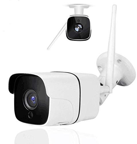 Cámara de Seguridad Inalámbrica para Exterior / Interior IP66 Impermeable de HD 1080P WiFi Cámara IP con Visión Nocturna por Infrarrojos, Detección de Movimiento, Audio Bidireccional, Monitor Remoto de La Cámara de Vigilancia Doméstica con iOS, Aplicación de Android