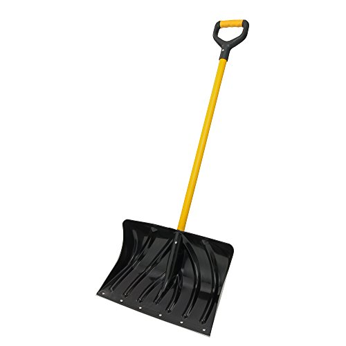 Suncast SCF2950 20-Inch Snow Shovel/Pusher Combo with Fiberglass D-Grip Handle And Wear Strip