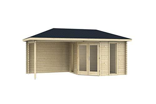 Skizze Holzgartenhaus mit Veranda