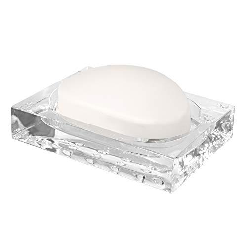 Modern Innovations Acrylic Soap Dish - Shatterproof Clear Plastic Soap Dish