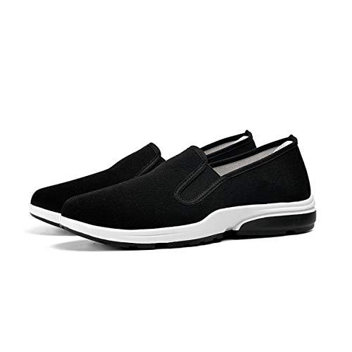 ADDG Heren casual anti-slip wandelschoenen zwart textiel herenschoenen zuigen zweet, ademend, snel drogen