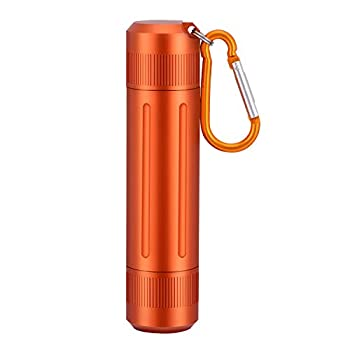 Smell Proof Container Airtight Stash Jar Aluminum Alloy Herb Container Waterproof Storage Container with Carabiner Multipurpose Smell Proof Jar for Outdoors