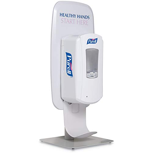 PURELL LTX or TFX Table Top Dispenser Stand, White, Touch-Free Dispenser Stand for PURELL LTX or TFX Hand Sanitizer Dispenser (Pack of 1) - 2426-DS
