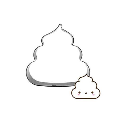 Dessin Animé Amusant Fèces Coupe-Gâteau Biscuit Presse Cookie Timbre Outils 3D Savon Moules Accessoires De Cuisson En Acier Inoxydable