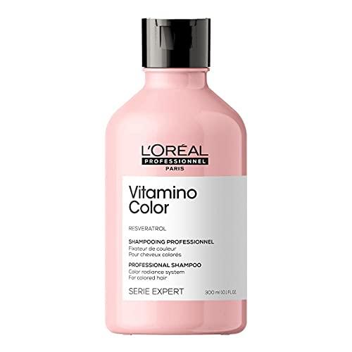 L'Oréal Professionnel   Champú Protector del color anti sequedad para Cabellos Teñidos, Vitamino Color, SERIE EXPERT, 300mL