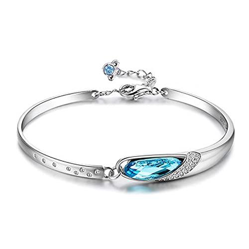 1 pieza de cristal pulsera pulseras para mujer pareja accesorios 925 plata esterlina Aries