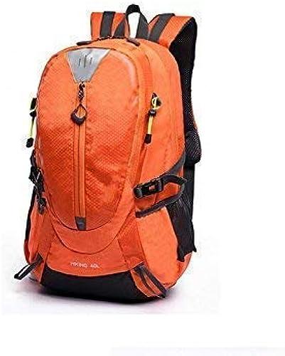 YHEGV Sports de Plein air et à l'intérieur Voyage en Plein air Sac à Dos Sac d'escalade Sac à Dos de randonnée (Orange) Sac à Dos à vélo