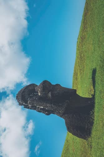Moai Statue Notebook: Perfect Notebook, Classic Journal With College Ruled Pages For Writing – Inspiring Famous Place Picture On The Softcover (Standard Diary To Write In)