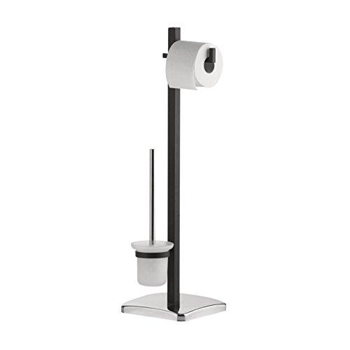 axentia Toilettenpapierhalter und WC Bürstenhalter, Metall, Bunt