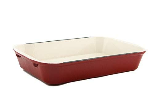 It's useful. Cast Iron Enameled 14-Inch Roasting and Lasagna Pan