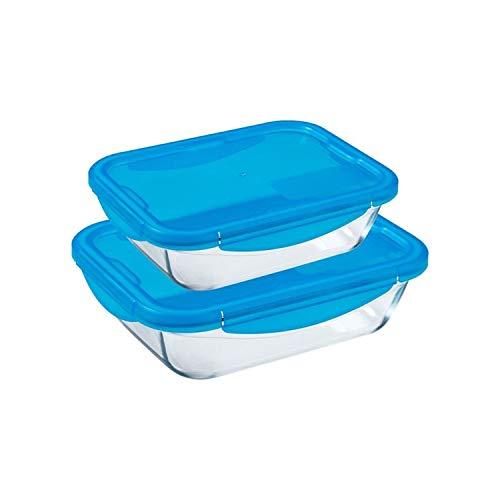 Pyrex Cook and Go Rectangular Dish Set of 2 Piece Blue