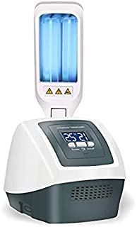 Portable UV Phototherapy Lamp Home UV Light with Two Bulbs Digital Timer Control, 311nm Narrowband