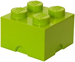 Room Copenhagen, Lego Storage Brick Box - Stackable Storage Solution - Brick 4, Lime Green