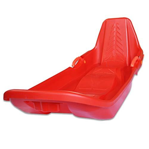 Rodel Schlitten Skifahren Outdoor-Reisen Wüste Skifahren Eltern-Kind-Gleitbrett mit Rücken Schlitten (Color : Red, Size : 115 * 43 * 35cm)