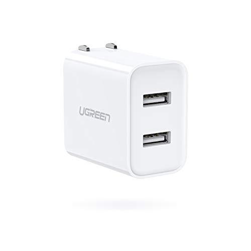UGREEN USB 充電器 2ポート【3.1A PSE認証済み 折畳式】ACアダプター 急速充電 iPhone XR Xs Max X 8 7 6S、Xiaomi、Google Pixel、Galaxy A10 A20 などとの互換性があり