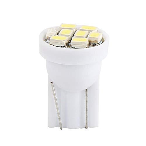 Qiilu 100 pcs T10 8SMD 1206 LED Ampoules Intérieur de Voiture Ampoules Auto Indicateur Lampe Blanc