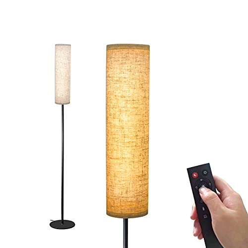 Wellwerks Floor Lamps for living room, 12W LED Floor Lamp with Remote Control and 4 Color Temperatures, Timer Reading Lamp, Floor Lamps for Bedrooms/Office