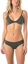 O'NEILL Women's Solid Triangle Back Tie Bikini Swimsuit Top (Olive, XL)