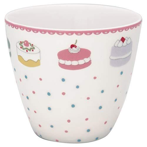 GreenGate - Tasse, Latte Cup - Madelyn - White - Porzellan - 300 ml