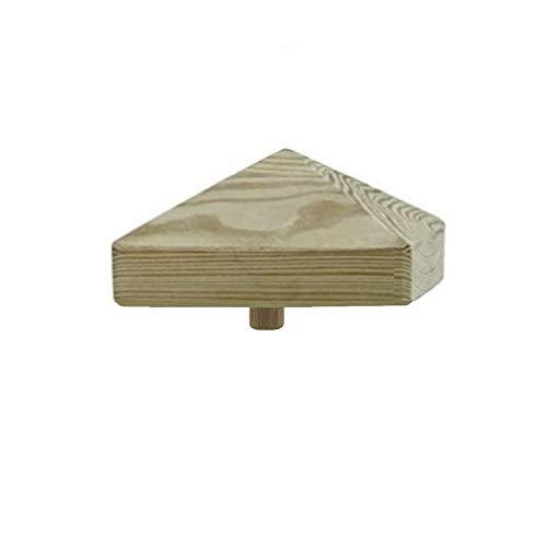 1-10 Stück h2i Pfostenkappen Holz Pyramide Größe: / 80 mm / 100 mm / 130 mm (2) - 1 Stück 100 x 100 mm)