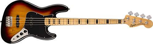 Squier by Fender Classic Vibe 70's Jazz Bass Guitar - Arce, 3 colores Sunburst