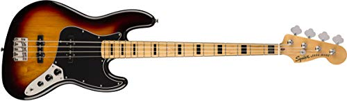 Squier by Fender Classic Vibe 70's Jazz Bass Guitar - Maple - 3-Color Sunburst