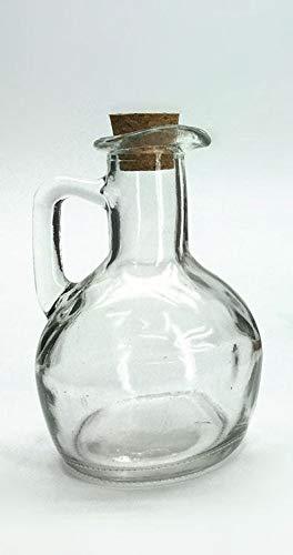 Botella de cristal de 18 cl con tapón de corcho