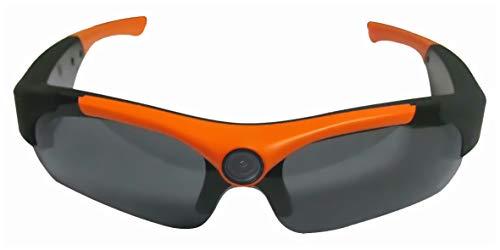 SportXtreme gx-9Gafas con cámara incorporada HD720P para Actividades Deportivas, Gran Angular 135°, Lentes polarizadas, Color Negro/Naranja