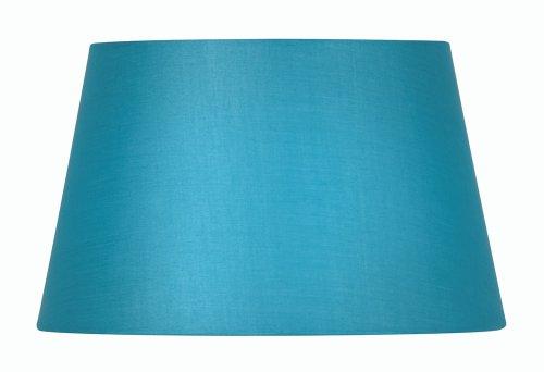 Oaks Lighting Lampenschirm aus Baumwolle, zylindrisch, 20 cm, blau