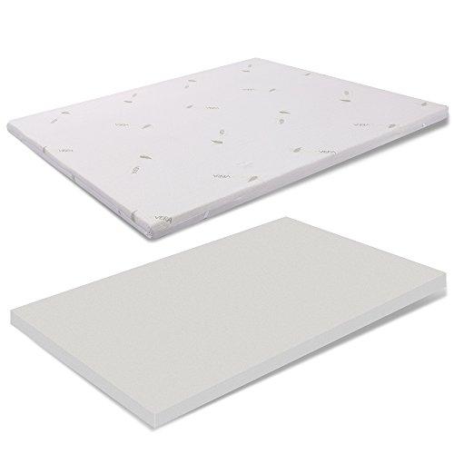 MiaSuite Topper 130x190 H10 Memory, Aloe Vera, beige, 140 x 190 cm