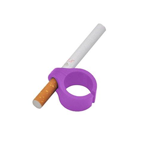 nikotinfreie Finger für Zigaretten Papers Gaming Raucher Ring Upxiang Finger Zigarettenhalter Gaming Gadget Controller Gamer (Lila)