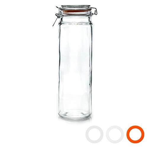 Argon Tableware Glass Spaghetti/Pasta/Food Preserving Storage Jar - 2050ml