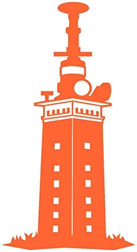 Samunshi® Leuchtturm Helgoland Aufkleber in 7 Größen und 25 Farben (11x20cm orange)