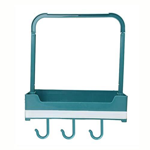 Kousa Artículos de cocina para el hogar sin estante de perforación multifunción de drenaje de trapo estante de almacenamiento montado en la pared cuchara de sopa estante verde