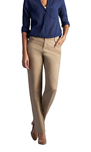 LEE Women's Relaxed Fit All Day Straight Leg Pant, Flax, 14