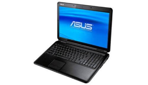 Asus P50IJ-SO119V 39,6 cm (15,6 Zoll) Laptop (Intel Pentium T4500, 2,3GHz, 2GB RAM, 320GB HDD, Intel GMA 4500M, DVD, Win7 HP) schwarz