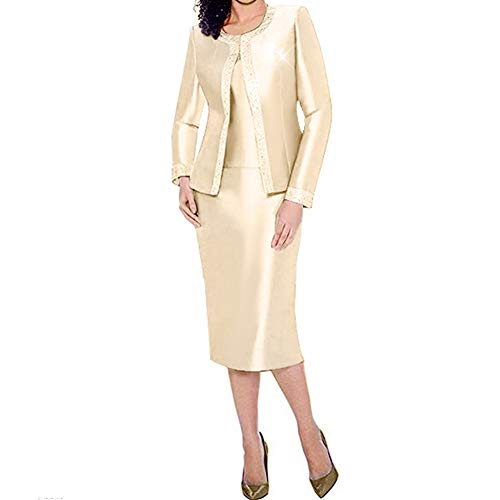 KUEENI Women Church Suits with Hats Special Occasion Wedding Party Clothes Black